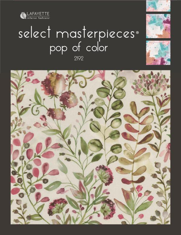 Select Masterpieces Fabric Collections by Lafayette Interior Fashions Book 2192, Pop of Color