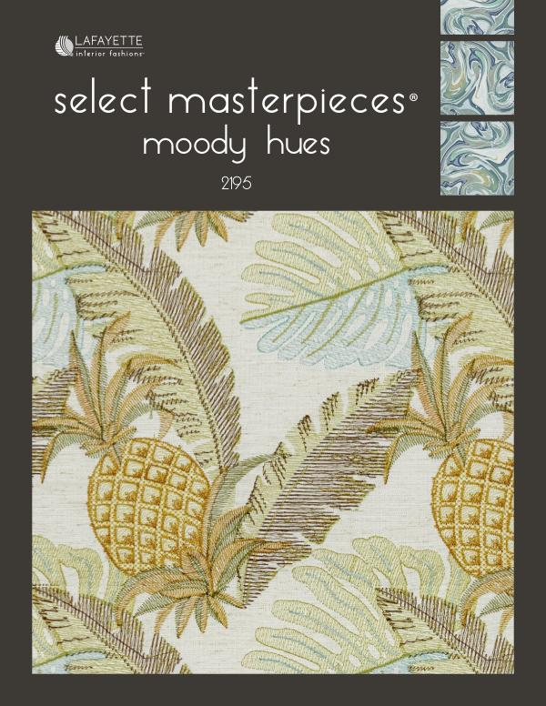 Select Masterpieces Fabric Collections by Lafayette Interior Fashions Book 2195, Moody Hues