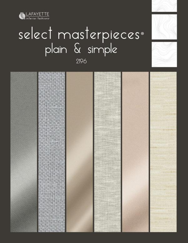 Select Masterpieces Fabric Collections by Lafayette Interior Fashions Book 2196, Plain & Simple