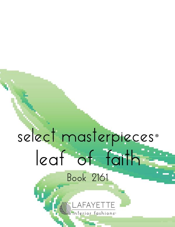 Select Masterpieces Fabric Collections by Lafayette Interior Fashions Book 2161, Leaf of Faith