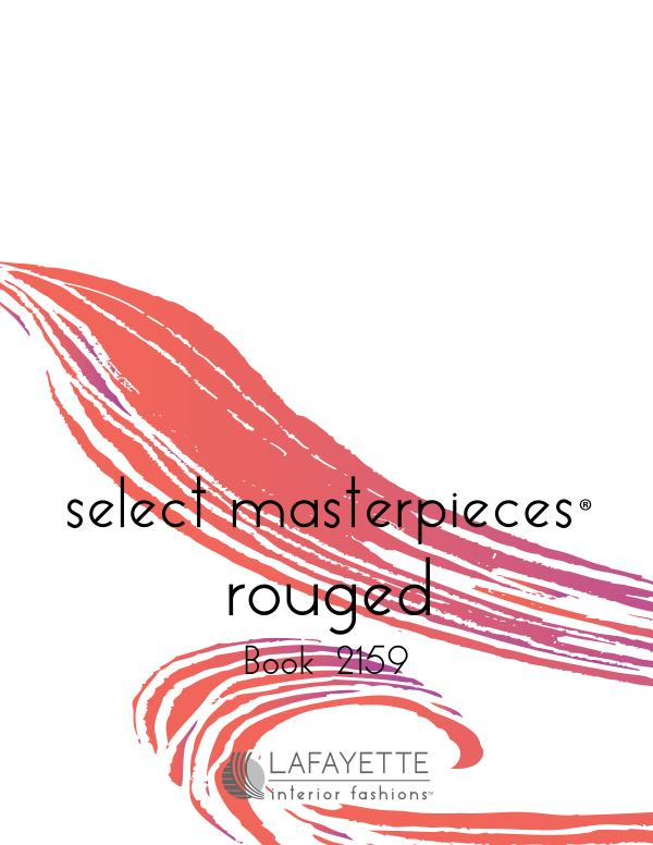 Select Masterpieces Fabric Collections by Lafayette Interior Fashions Book 2159, Rouged