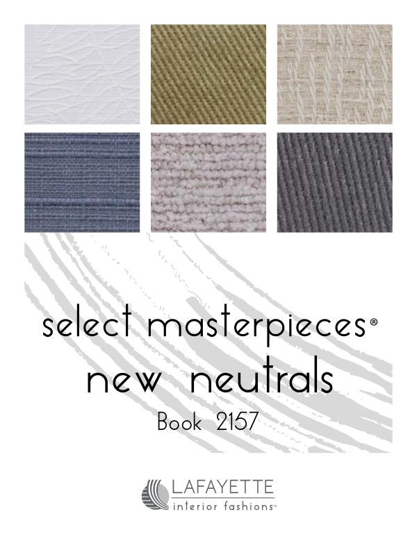 Select Masterpieces Fabric Collections by Lafayette Interior Fashions Book 2157, New Neutrals