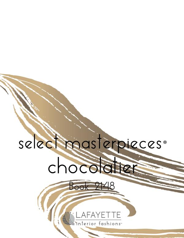 Select Masterpieces Fabric Collections by Lafayette Interior Fashions Book 2148, Chocolatier