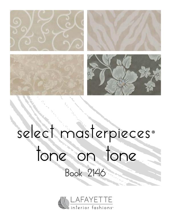 Select Masterpieces Fabric Collections by Lafayette Interior Fashions Book 2146, Tone on Tone