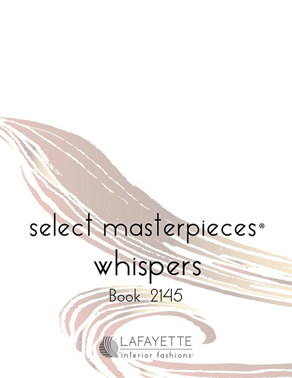 Select Masterpieces Fabric Collections by Lafayette Interior Fashions Book 2145, Whispers