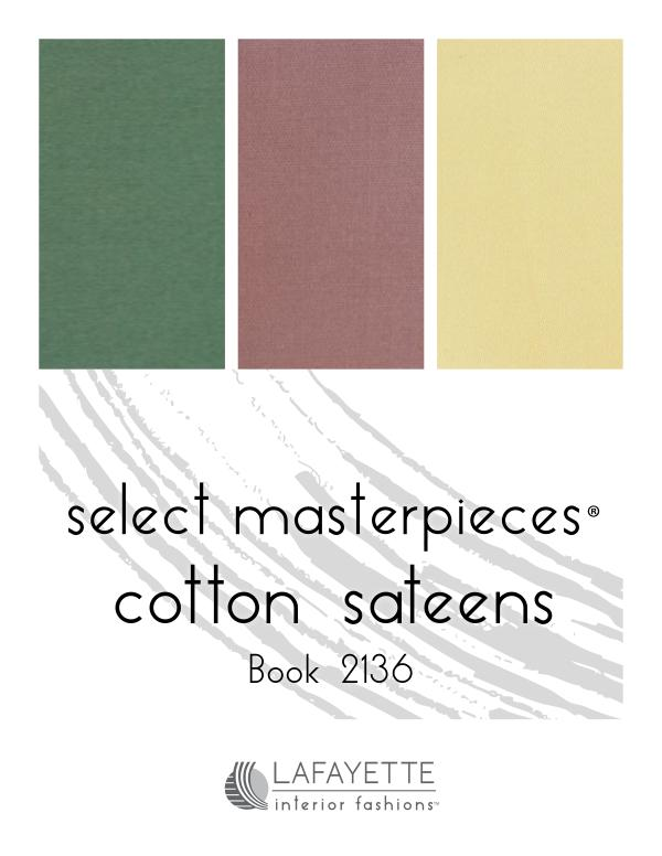 Select Masterpieces Fabric Collections by Lafayette Interior Fashions Book 2136, Cotton Sateens