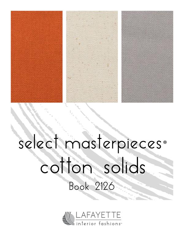 Select Masterpieces Fabric Collections by Lafayette Interior Fashions Book 2126, Cotton Solids