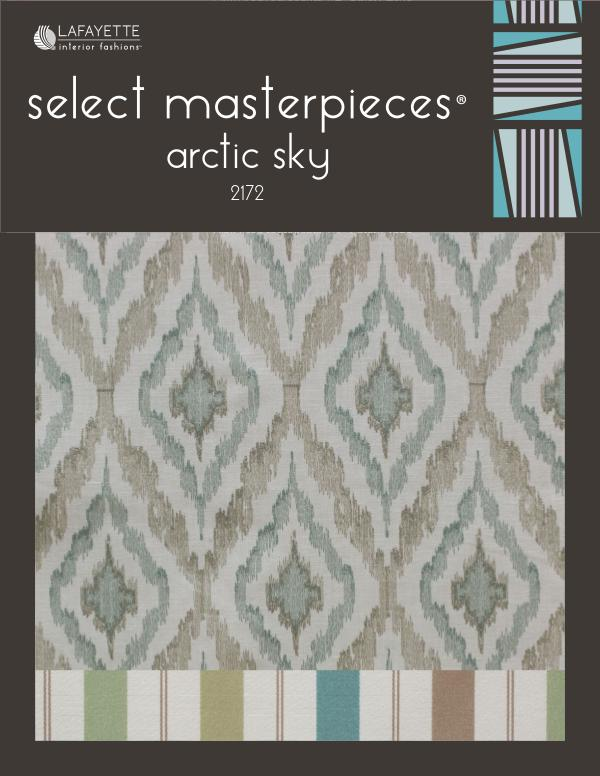 Select Masterpieces Fabric Collections by Lafayette Interior Fashions Book 2172, Arctic Sky