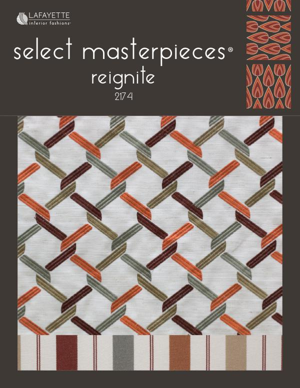 Select Masterpieces Fabric Collections by Lafayette Interior Fashions Book 2174, Reignite