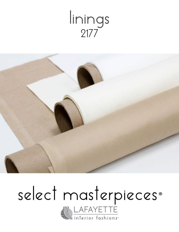 Select Masterpieces Fabric Collections by Lafayette Interior Fashions Book 2177, Linings