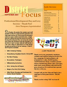 W-E Schools District Focus