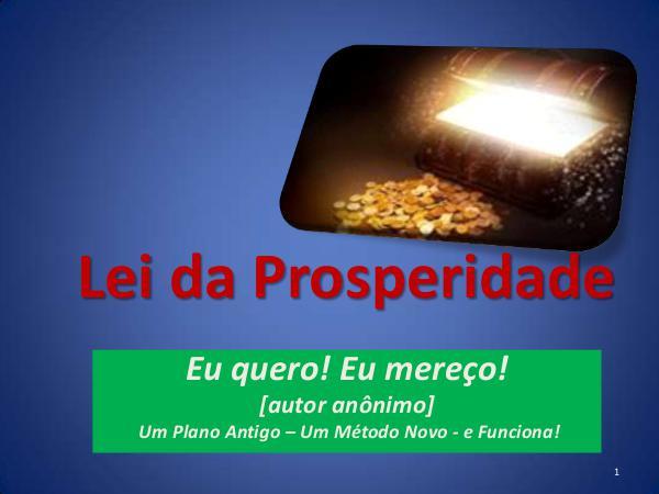 A Lei da Prosperidade - 1