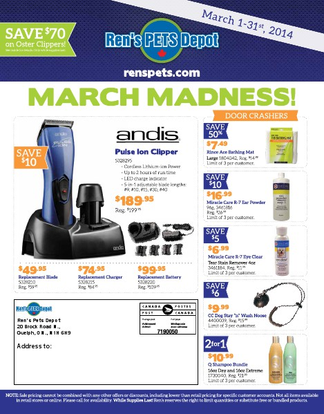 Professional Grooming Flyers March 2014