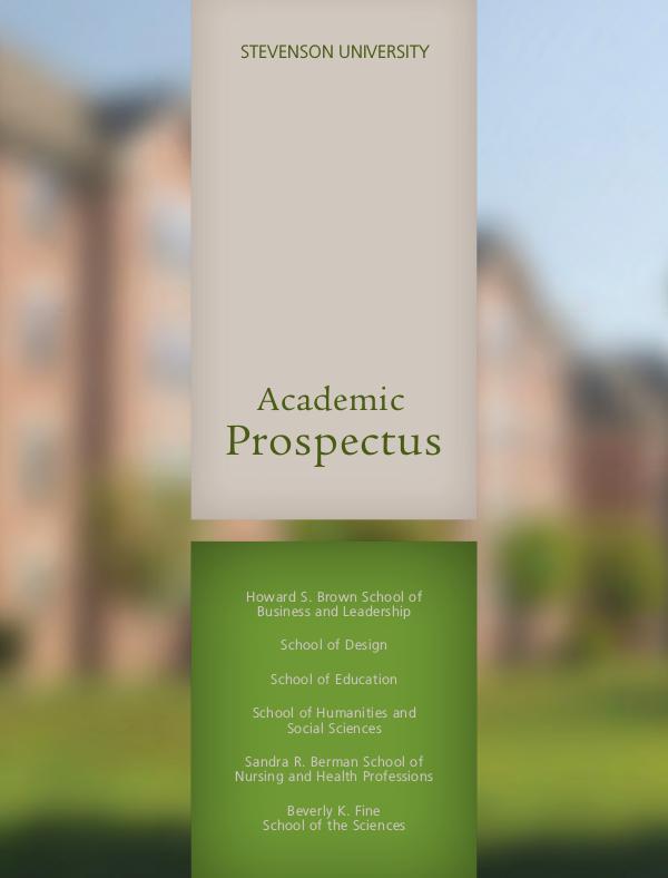Academic Prospectus