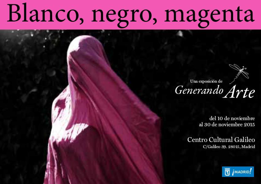 Blanco, Negro y Magenta. Exposición Generando Arte. Madrid Noviembre 2015