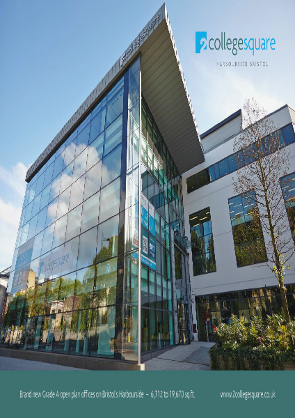Office space to rent across the UK 2 College Square, Bristol Harbourside