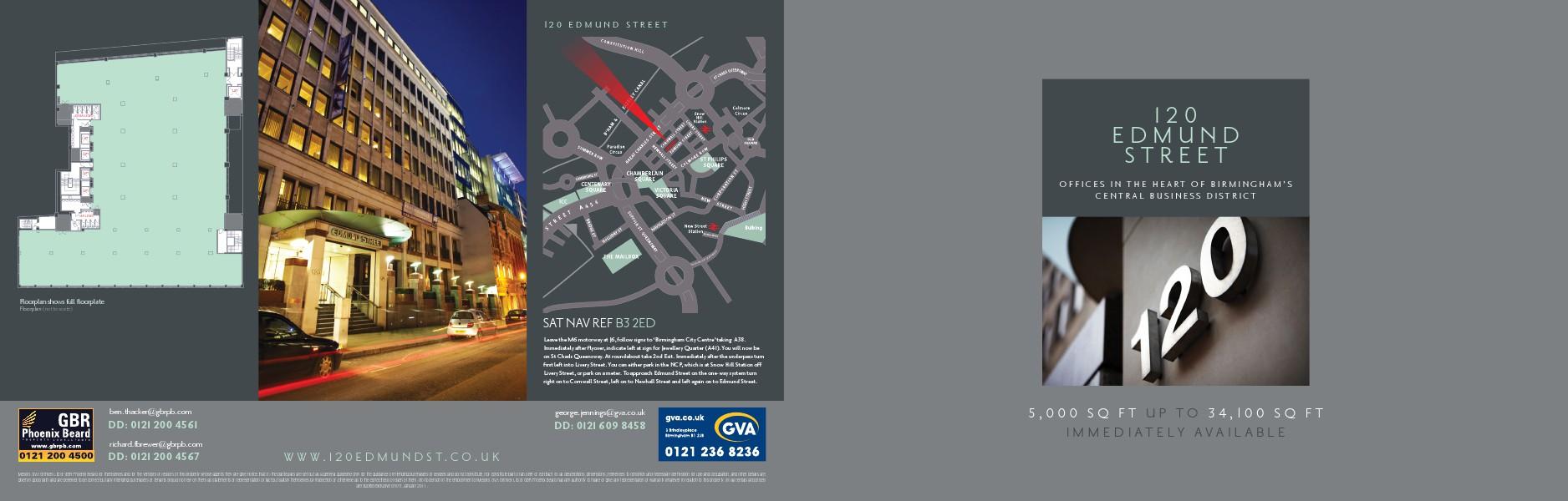 Office space to rent across the UK 120 Edmund Street, Birmingham