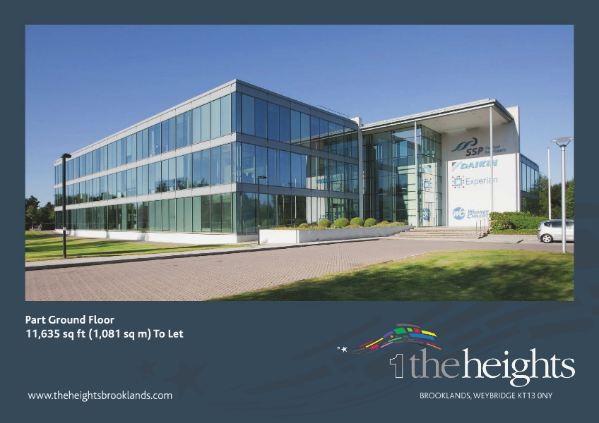 Office space to rent across the UK The Heights at Brooklands, Weybridge, Surrey