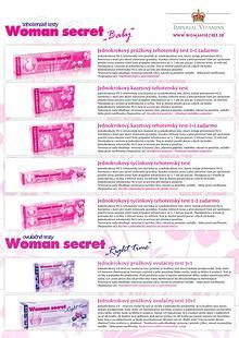 Produktové portfólio Woman secret - krátke
