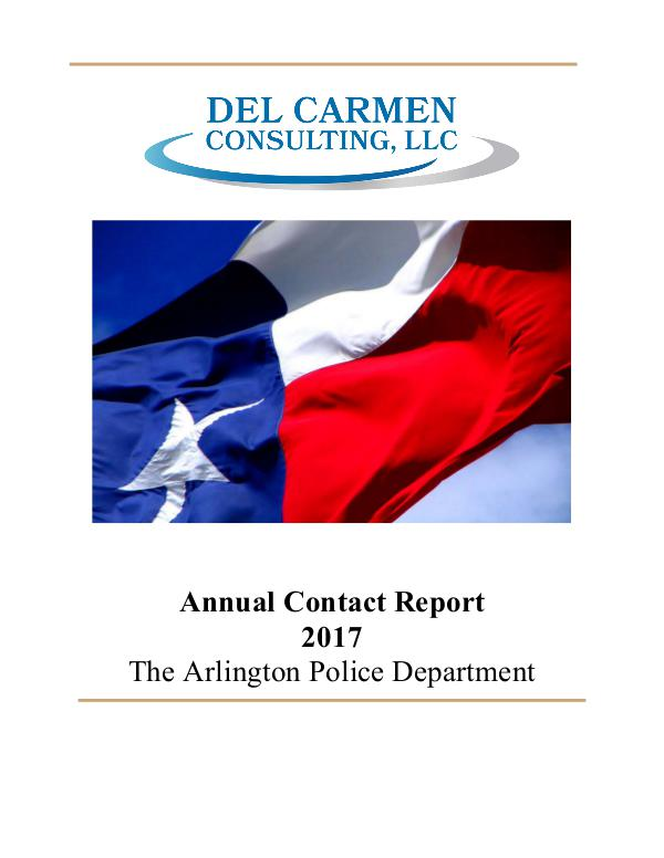 Racial Profiling Reports 2017 Racial Profiling Report