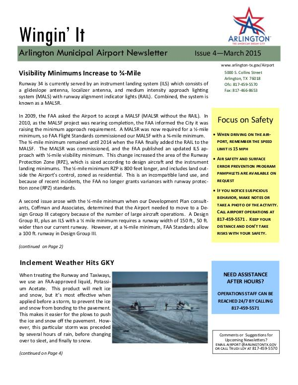 Wingin' It - Issue 4 - March 2015