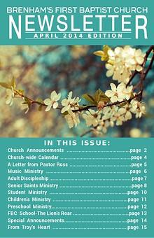 Brenham's First Baptist Church Newsletter
