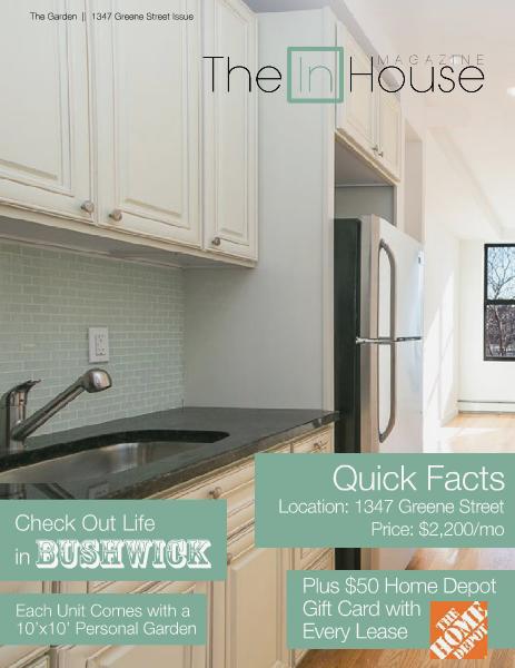 The InHouse Magazine 1347 Greene Street    April 2014