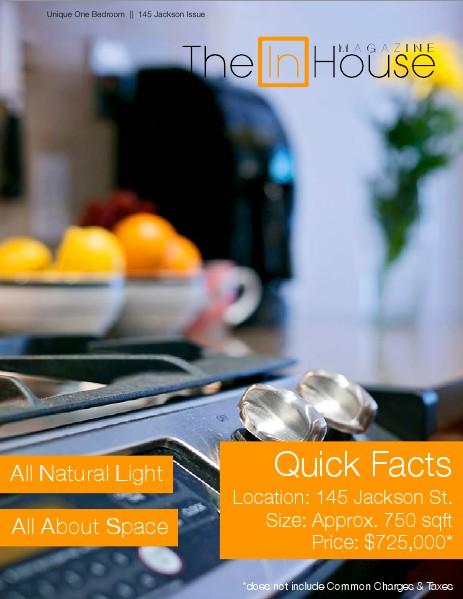 The InHouse Magazine Unique One Bedroom Issue    145 Jackson Street
