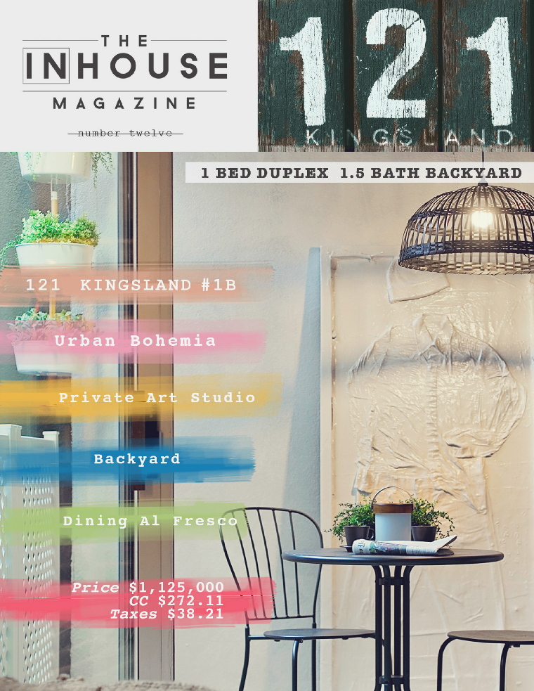The InHouse Magazine #UrbanBohemian in Brooklyn  || 121 Kingsland