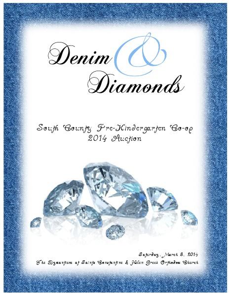 Denim & Diamonds - SCPC 2014 Auction Program March, 2014