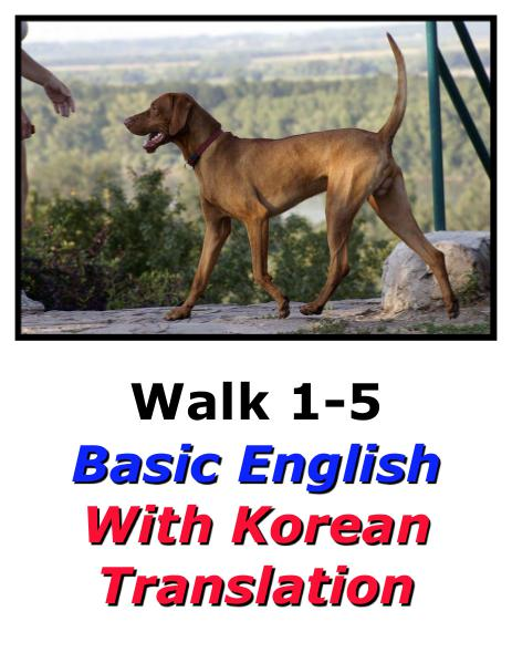 Learn English Here with Korean Translation-Walk 1 #1-5