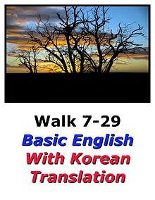 Learn English Here with Korean Translation-Walk 7