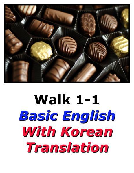 Learn Korean Here with English Translation-Walk 1 #1-1