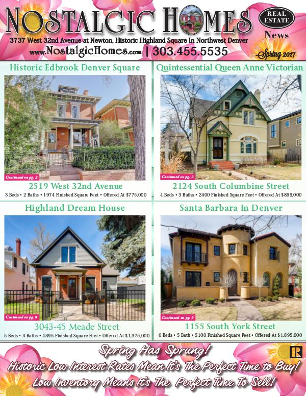 Nostalgic Homes Real Estate Newsletter Nh Newsletter Spring 2017