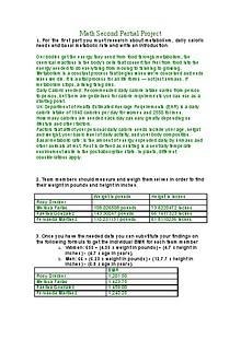 Math project 2
