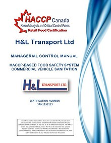 H&L Transport Managerial Control Manual