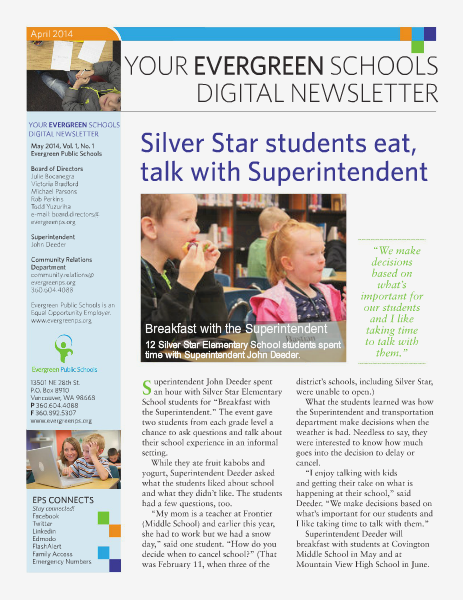 Your Evergreen Schools | May 2014