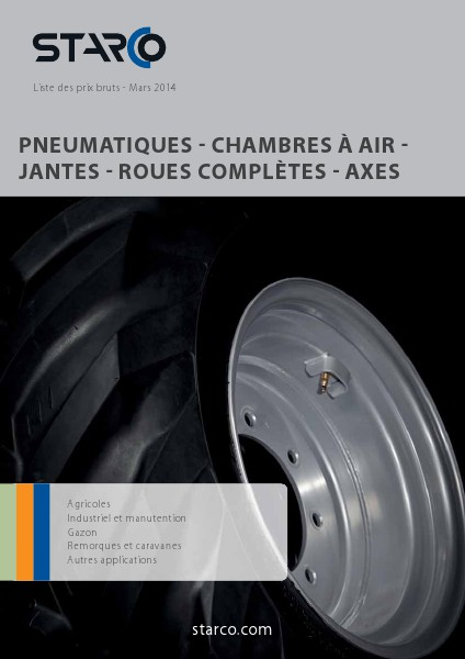 Blue Catalogue STARCO Liste des prix bruts - Mars 2014 (BE-fr)