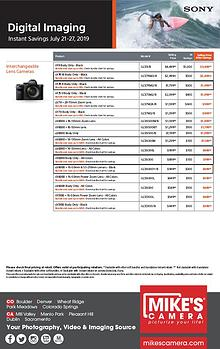 Sony Special Rebates and Announcements