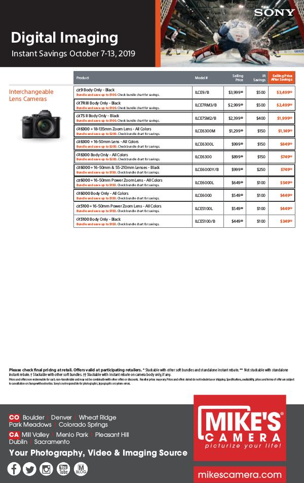 Sony Special Rebates and Announcements Sony Savings!