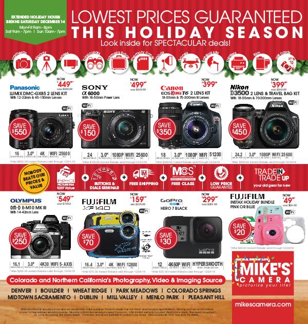 Mike's Camera Weekly Ad Mike's Camera Holiday Insert