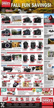Mike's Camera California Weekly Ad
