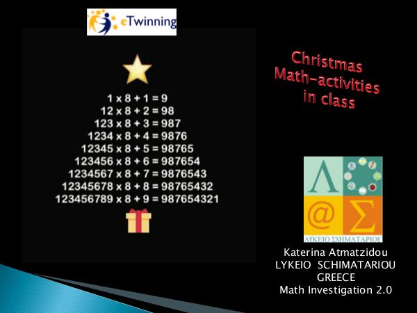 Christmas math activities in class Vol 1