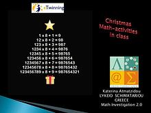 Christmas math activities in class