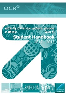 OCR Cambridge Technical in Media course handbook Sep. 2012