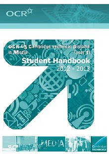 OCR Cambridge Technical in Media course handbook