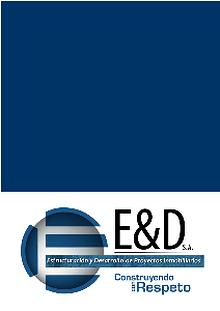 ESTRUCTURACION Y DESARROLLO DE PROYECTOS INMOBILIARIOS S.A ()