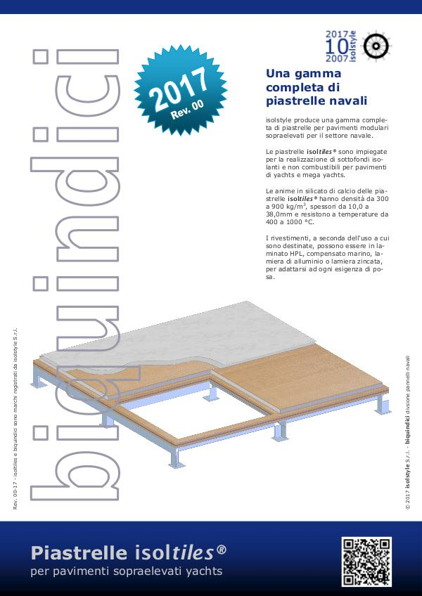 Piastrelle isoltiles® per pavimenti yacht Rev. 00-17