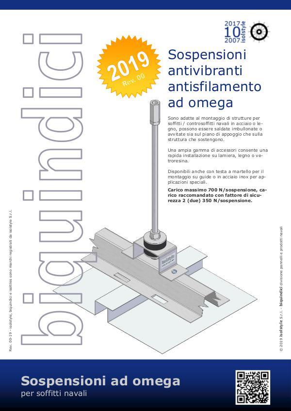 Sospensioni antivibranti ad omega per soffitti navali isolstyle Rev. 00-19
