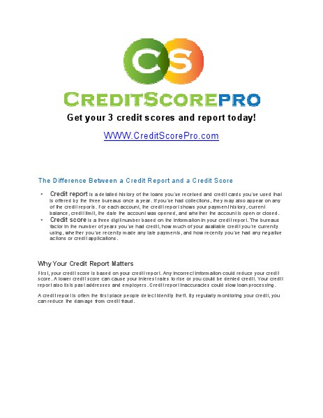 Credit Repair 101 March 2014